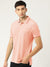 St Jhons's Bay Short Sleeve P.Q Polo Shirt For Men-Light Orange Melange-BE14609