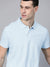 St Jhons's Bay Short Sleeve P.Q Polo Shirt For Men-Light Sky-BE14618