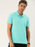 St Jhons's Bay Short Sleeve P.Q Polo Shirt For Men-Sea Green-BE14616