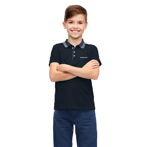 Next Polo Shirt for Kids Cut Label-Dark Navy-BE2128