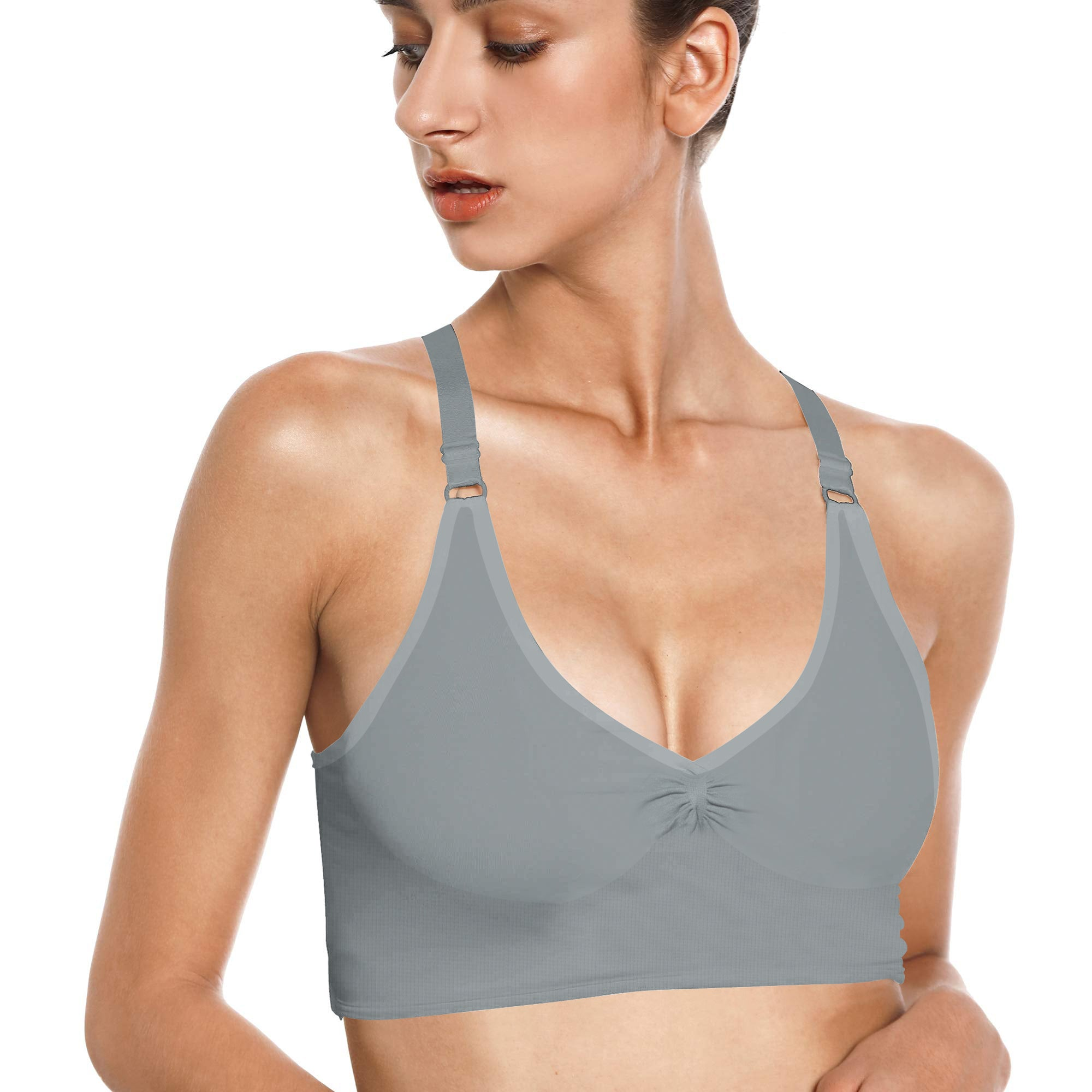 Stylish Bra For Ladies-Slate Grey-BE8734