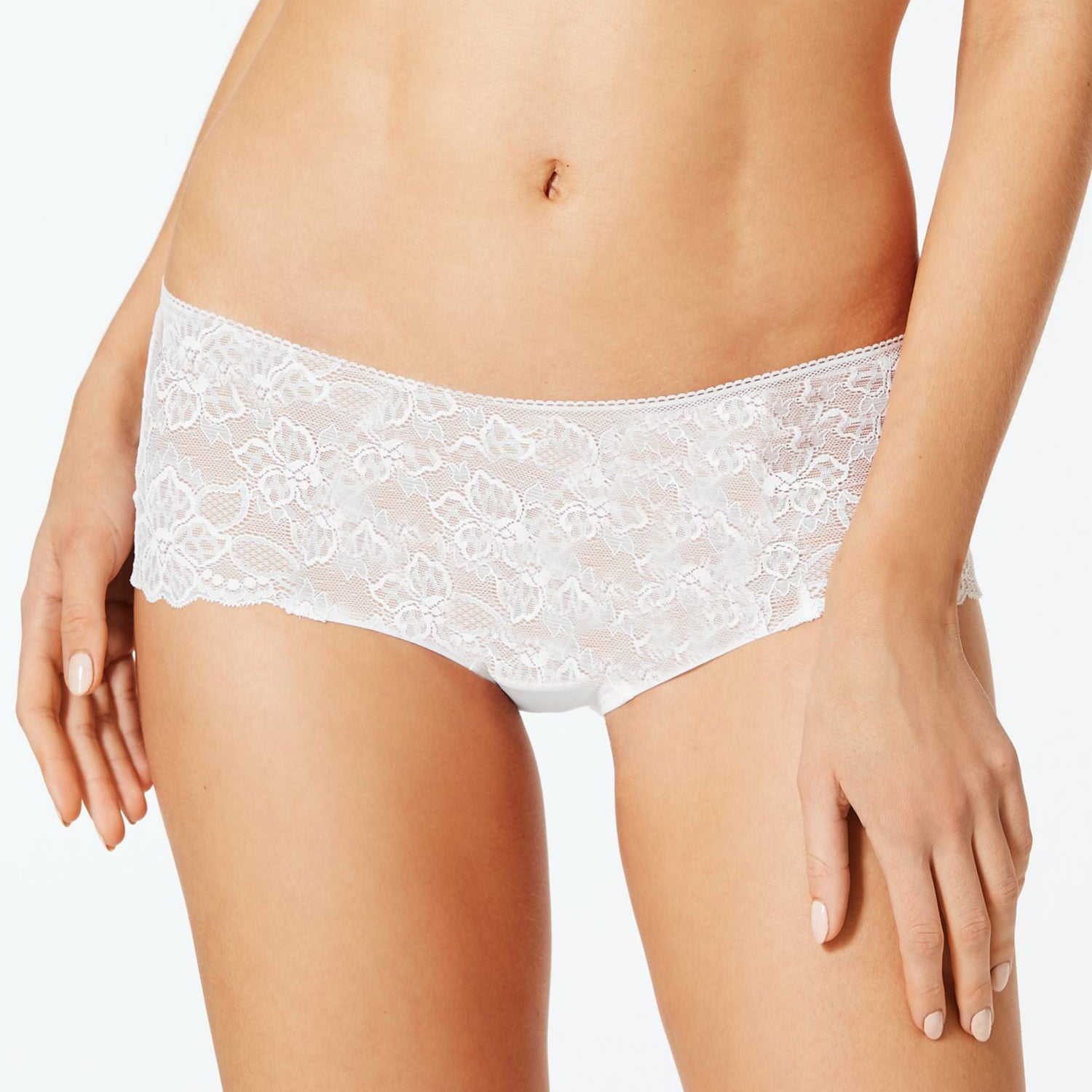 Stylish Lace Bikini For Ladies-White-BE8744