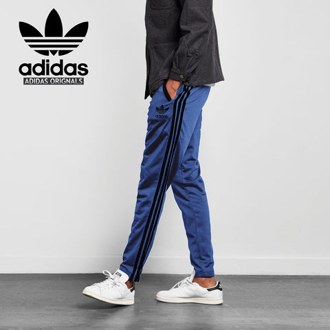 Adidas Cotton Trouser For Men-Royal Blue With Blue Black Stripes-BE2243