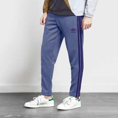 Adidas Cotton Trouser For Men-Royal Blue With Purple Stripes-BE2277