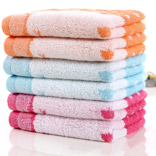 Pack of 6 13x13 Printed Hand Towel's-BE680