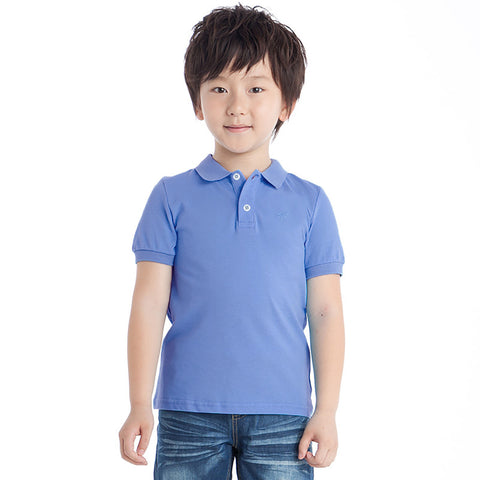 Free Style Polo Shirt For Boys-Light Blue-BE2269