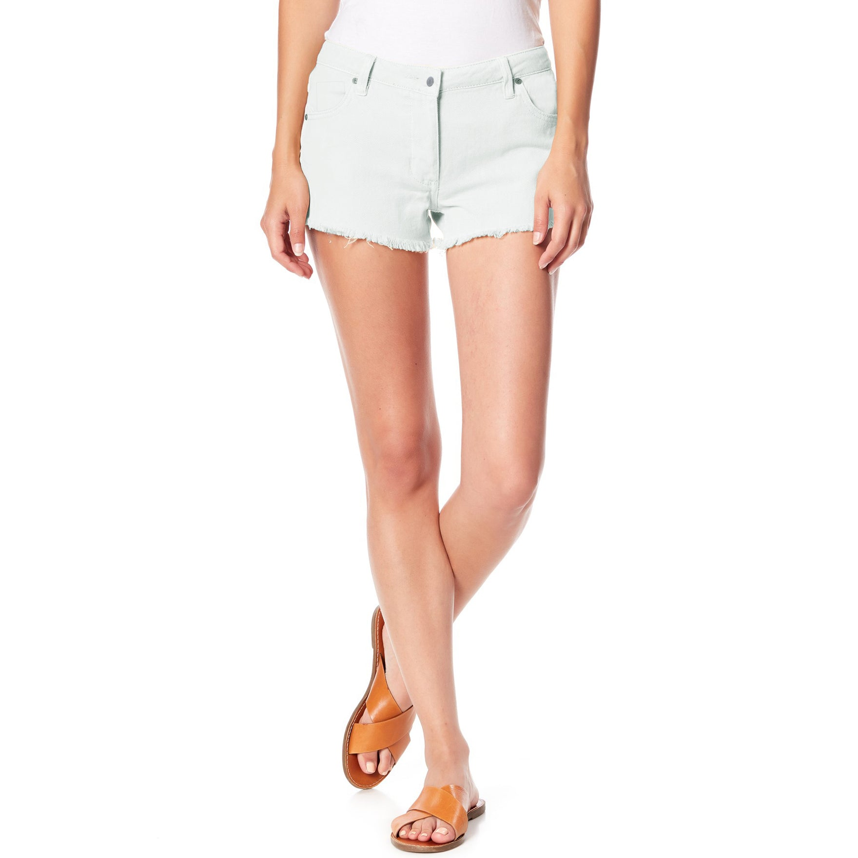 Tammy Girl Denim Short For Ladies-Alice Blue-SP047