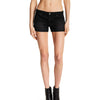 Inside Girl Denim Short For Ladies-Black Faded-BE7066
