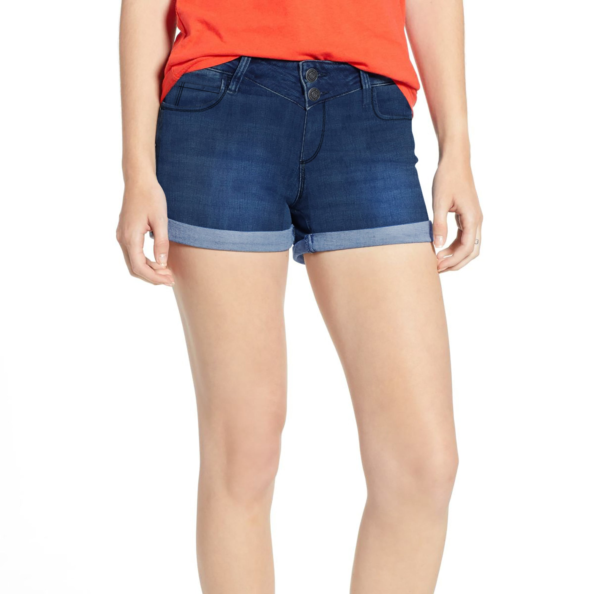 0f622262af Tammy Girl Denim Short For Ladies-Dark Blue Faded-BE7063 - BrandsEgo