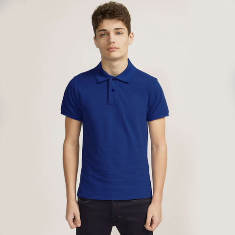 Bickies Polo Shirt For Boys-Blue-BE2250