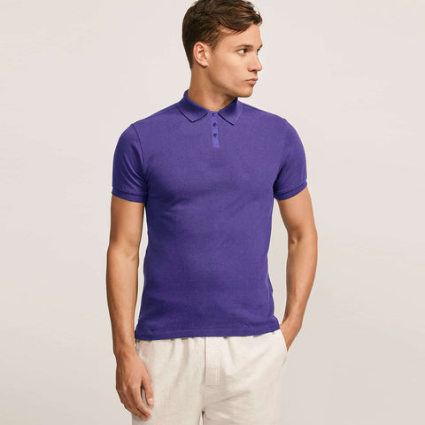 Dickies Polo Shirt For Men-Purple-BE798