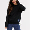 A&F Fleece Half Neck Sweatshirt For Ladies-Black Melange-SP972