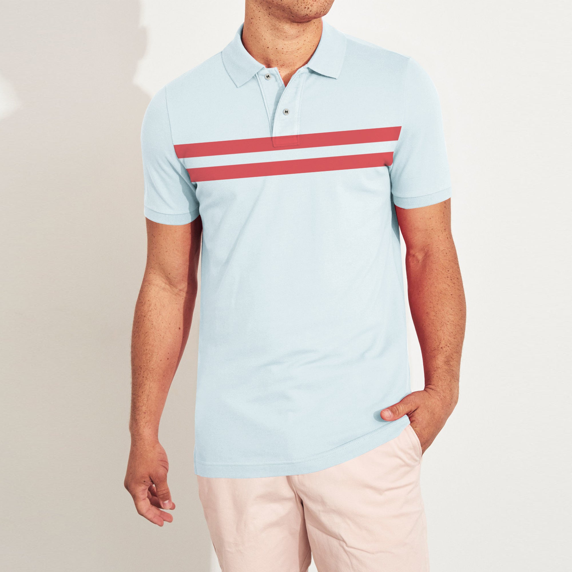 brandsego - The Modern Short Sleeve P.Q Polo Shirt For Men-BE9005