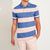 brandsego - The Modern Short Sleeve P.Q Polo Shirt For Men-Blue & Pink Stripe-BE8312
