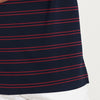 brandsego - The Modern Short Sleeve P.Q Polo Shirt For Men-Dark Navy & Red Stripe-BE8401