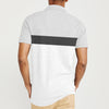 brandsego - The Modern Short Sleeve P.Q Polo Shirt For Men-Grey with White Stripe-BE8402