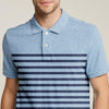 brandsego - The Modern Short Sleeve P.Q Polo Shirt For Men-Light Sky with Stripe-BE8317