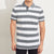 brandsego - The Modern Short Sleeve P.Q Polo Shirt For Men-Off White & Grey Stripe-BE8427