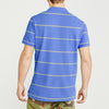 brandsego - The Modern Short Sleeve P.Q Polo Shirt For Men-Sky & Yellow Stripe-BE8429
