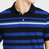 brandsego - The Modern Short Sleeve P.Q Polo Shirt For Men-Striped-BE8313
