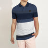 The Modern Short Sleeve P.Q Polo Shirt For Men-Striped-BE8622