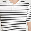 brandsego - The Modern Short Sleeve P.Q Polo Shirt For Men-White with Stripe-BE8350