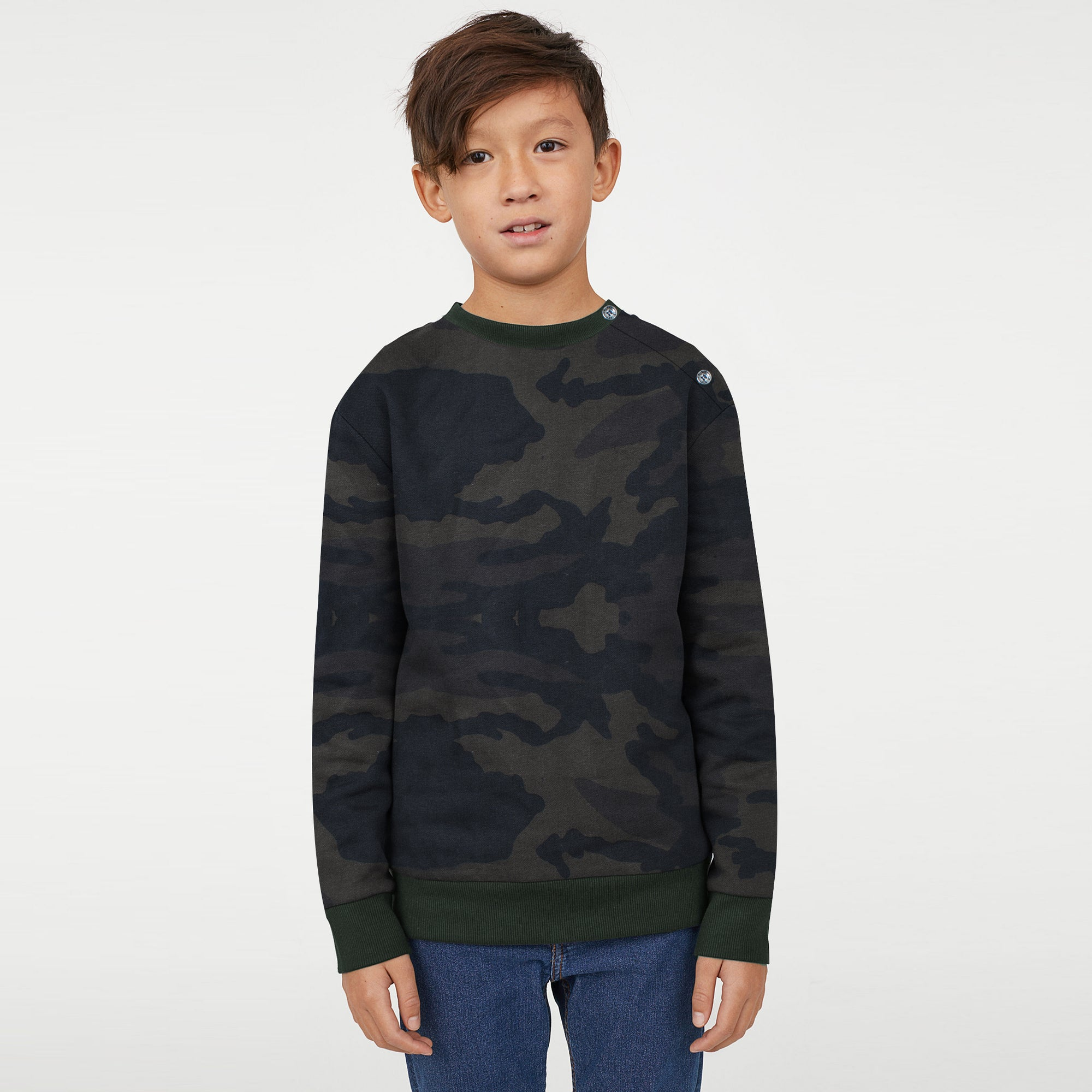 c98577e2 Tommy Hilfiger Crew Neck Fleece Sweatshirt For Kids-Camouflage-BE7217