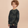 brandsego - Tommy Hilfiger Crew Neck Fleece Sweatshirt For Kids-Camouflage-BE7222