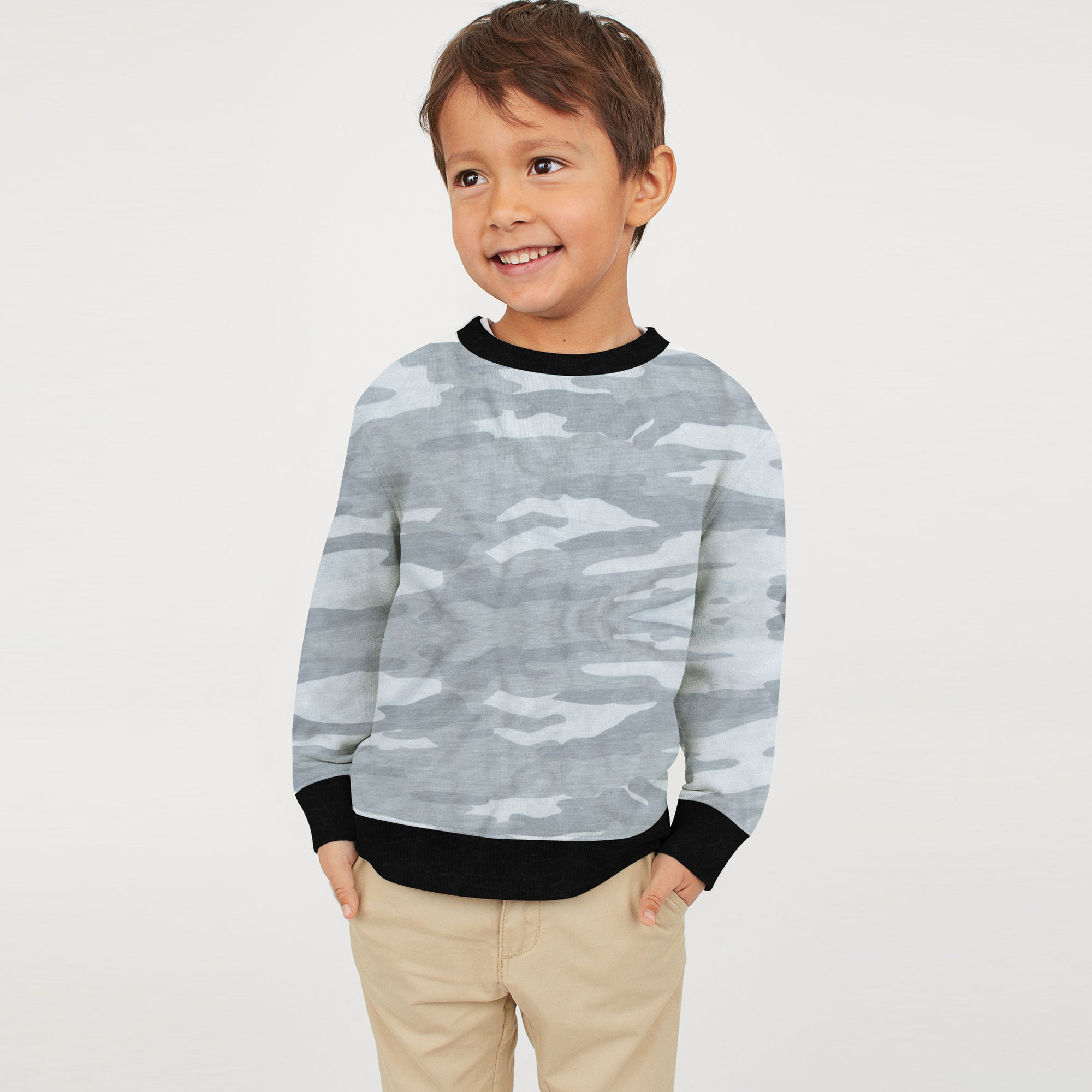 2e2c7519 Tommy Hilfiger Crew Neck Fleece Sweatshirt For Kids-Camouflage-BE7938 -  BrandsEgo