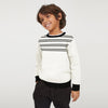 Tommy Hilfiger Crew Neck Fleece Sweatshirt For Kids-Off White with Stripe-BE7935