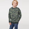 Tommy Hilfiger Crew Neck Terry Fleece Sweatshirt For Kids-Camouflage with Melange-BE7220