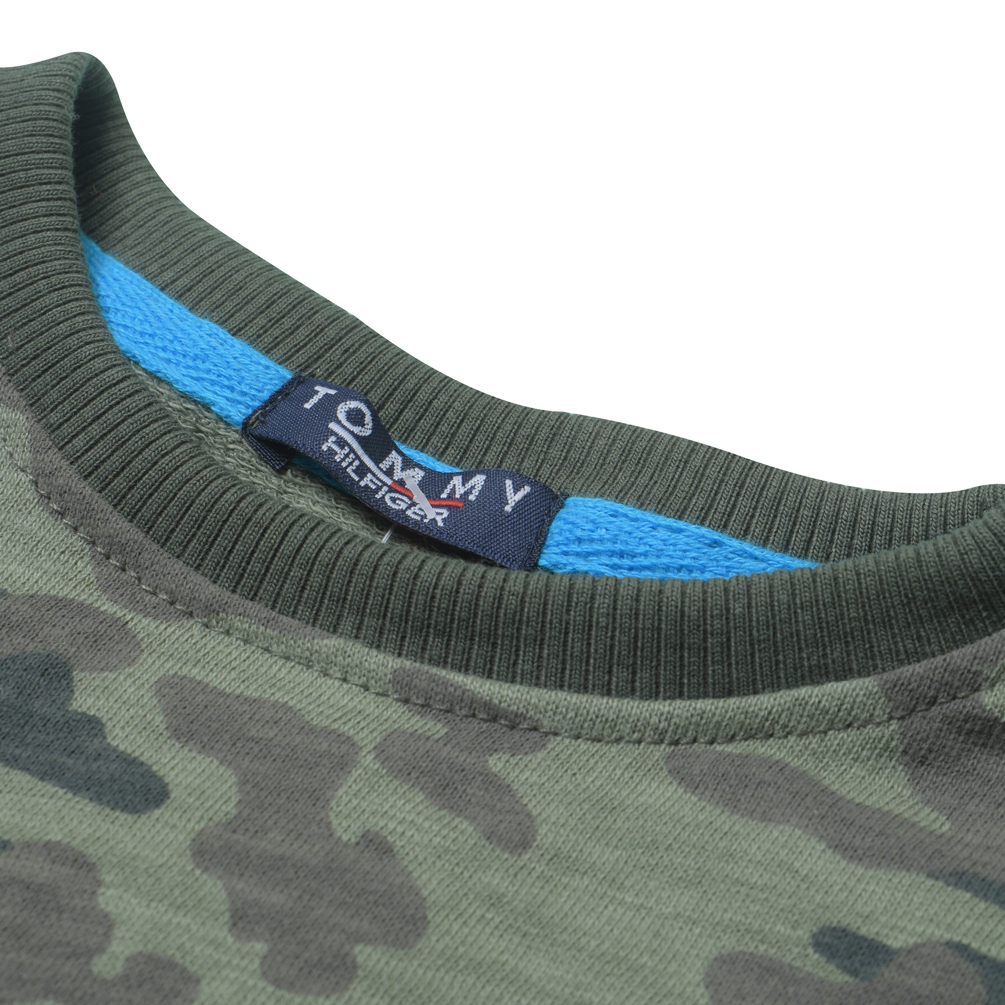 e26472bc Tommy Hilfiger Crew Neck Terry Fleece Sweatshirt For Kids-Camouflage with  Melange-BE7220