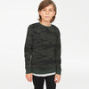 Tommy Hilfiger Crew Neck Single Jersey Sweatshirt For Kids-Camouflage with Olive-BE7227