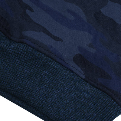 Tommy Hilfiger Fleece Crew Neck Sweatshirt For Kids-Dark Navy Camouflage Print-BE10694