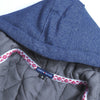 Tommy Hilfiger Fleece Quilted Zipper Hoodie For Kids-Dark Blue Melange & Yellow-BE10668