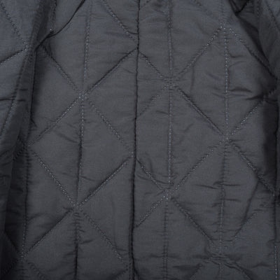 Tommy Hilfiger Fleece Quilted Zipper Hoodie For Kids-Dark Navy & Grey Melange-BE10474