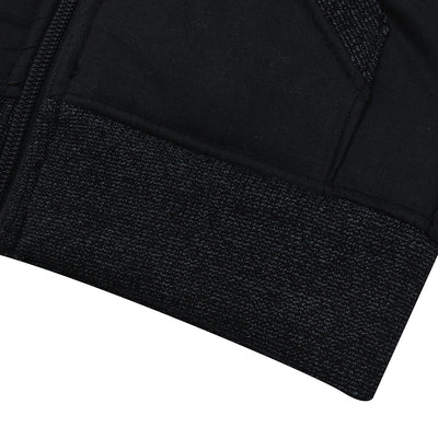 Tommy Hilfiger Quilted Zipper Hoodie For Kids-Black-BE10483