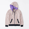 Tommy Hilfiger Quilted Zipper Hoodie For Kids-Light Peach & Dark Navy-BE11003