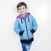 Tommy Hilfiger Quilted Zipper Hoodie For Kids-Sky Blue with Purple & Dark Navy-BE11001