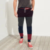 Tommy Hilfiger Single Jersey Slim Fit Trouser For Men-Maroon with Panels-BE5699