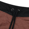 Uneek Single Jersey Jogger Trouser For Boys-Burnt Umber & Charcoal Melange-BE10204