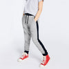 Uneek Single Jersey Jogger Trouser For Boys-Grey Melange & Dark Navy-BE10190