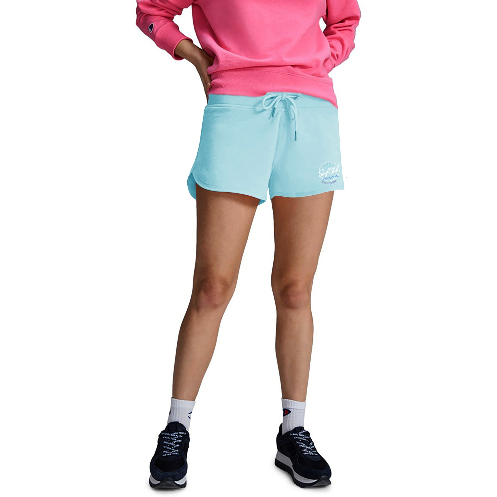 brandsego - Unit Terry Fleece Short For Ladies-Light Sky-BE7079
