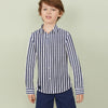 US Polo Assn Premium Flannel Casual Shirt For Boys-White with Navy Lining-BE9877