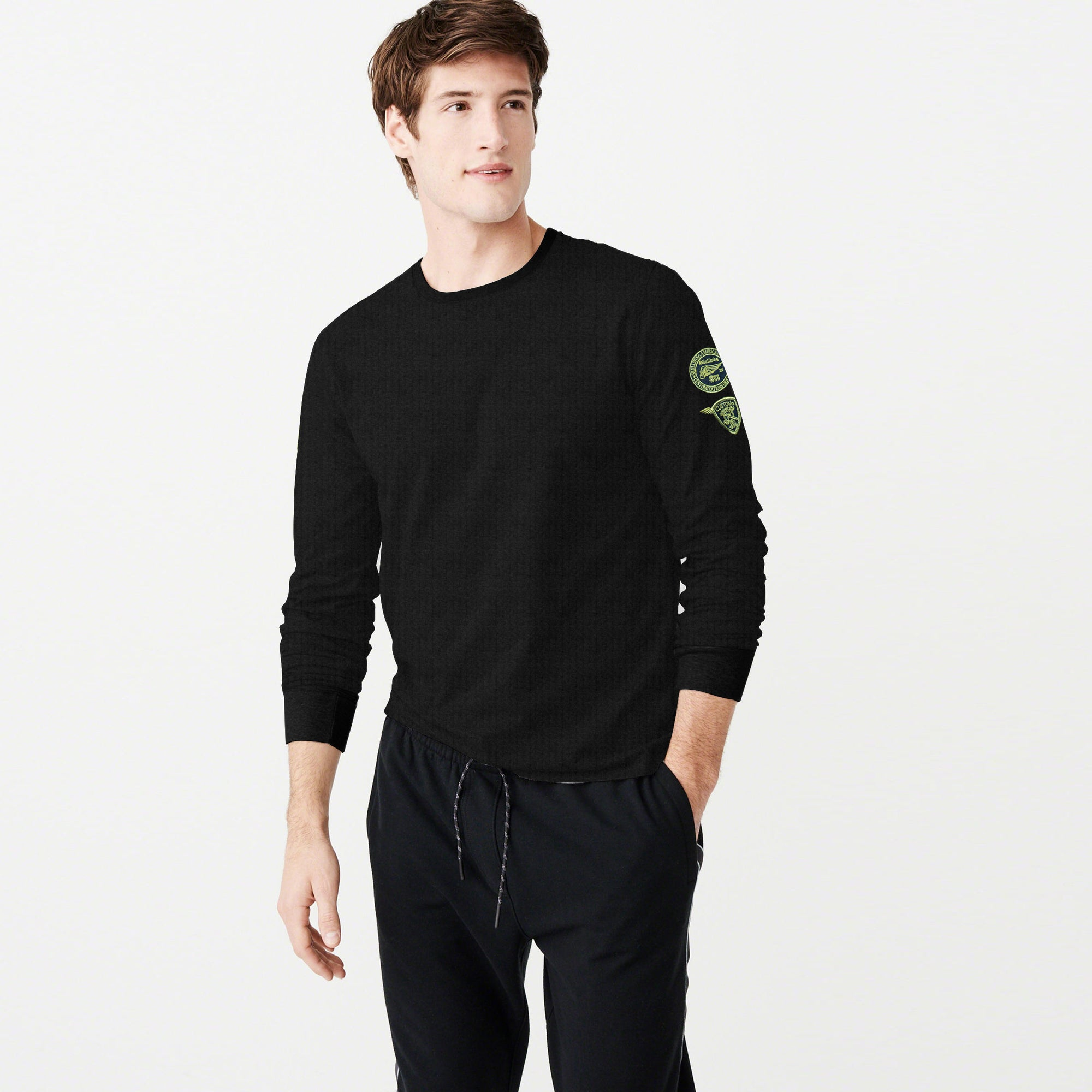 USF Thermal Long Sleeve Tee Shirt For Men-Dark Charcoal-BE5597
