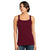 Vanity Skinny Tight Sleeveless Ladies Blouse-Dark Maroon-BE5906