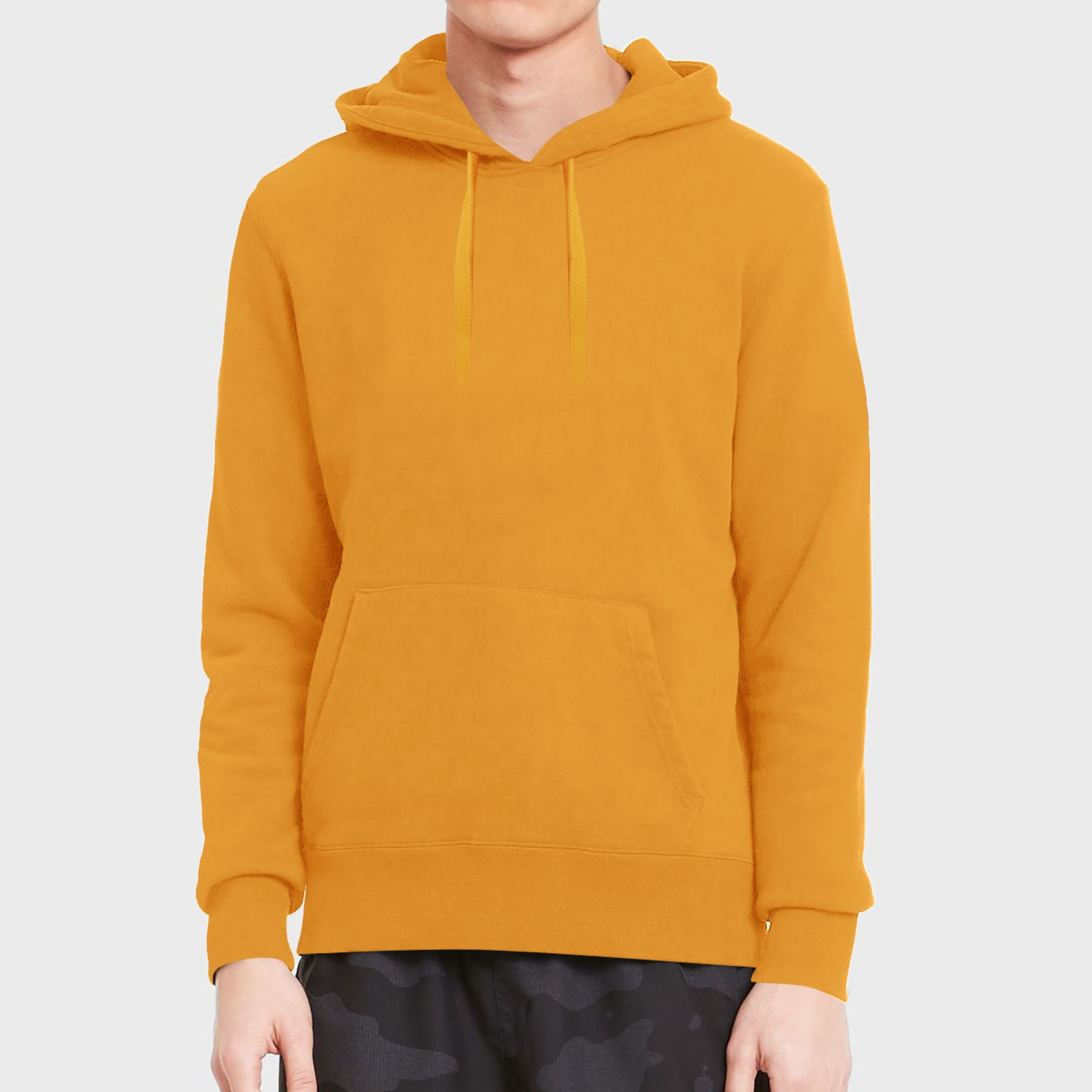 Vindaloo Fleece Pullover Hoodie For Men-Orange-BE12863
