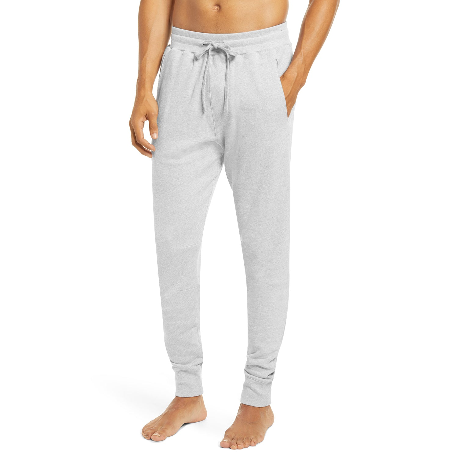 Vindaloo Fleece Slim Fit Pant Style Jogging Trouser For Men-Grey Melange-BE12883