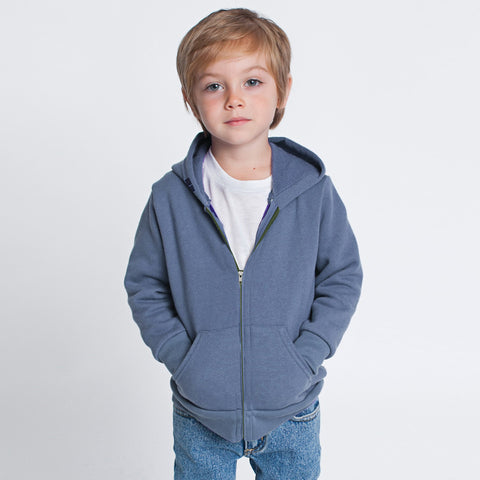 "Kid's  "" River Island "" Zipper Terry Fleece Hoodie -Light Sky-BE359"