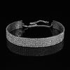 Rhinestone Choker Chain Necklace for Women Diamante Crystal Choker Necklace Elastic Cord-SK0184